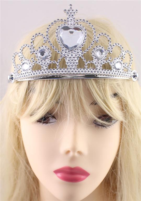 TIARA - SILVER WITH DIAMOND HEART JEWEL