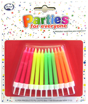 NEON CANDLE - PACK OF 24