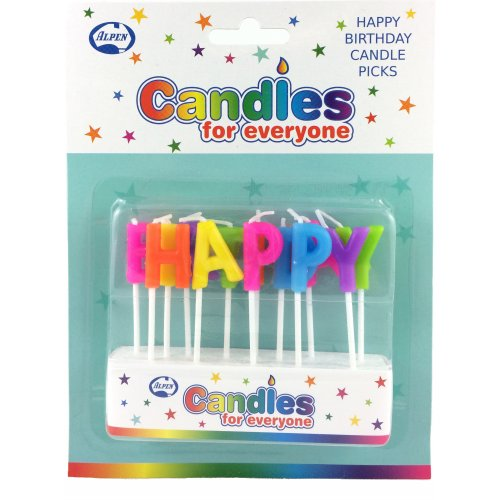 CANDLES - HAPPY BIRTHDAY PICK CANDLES - MULTI COLOURED