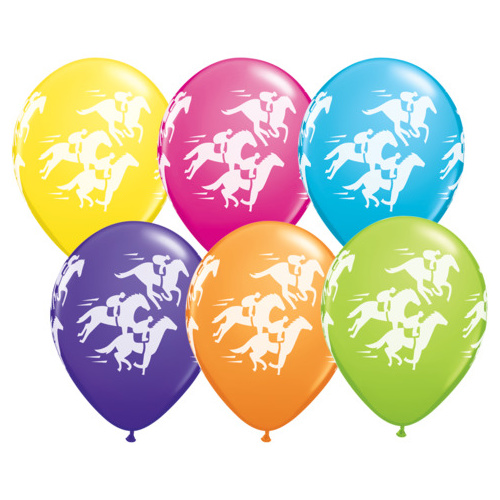 BALLOONS LATEX - FASHION TONE RACEHORSE WRAP - PACK OF 25