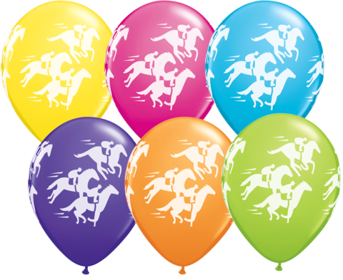 BALLOONS LATEX - FASHION TONE RACEHORSE WRAP - PACK OF 6