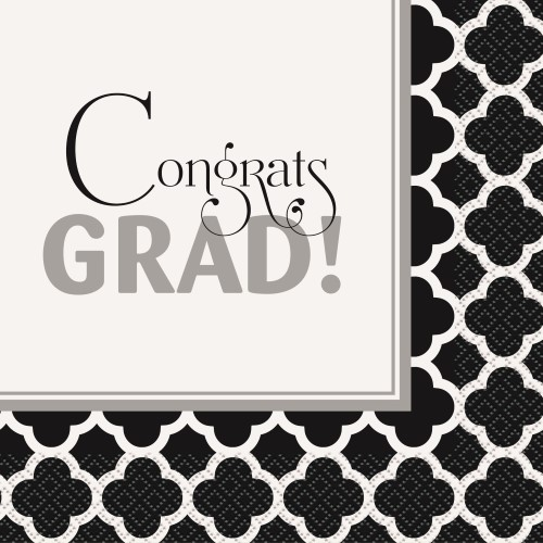 GRADUATION LUNCH NAPKINS - PACK OF 16