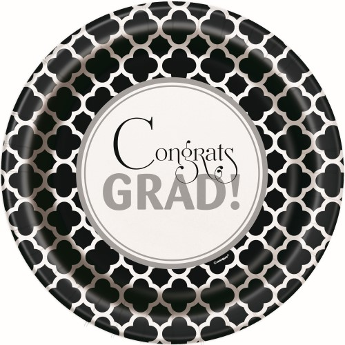 GRADUATION DINNER PLATES - PACK OF 8
