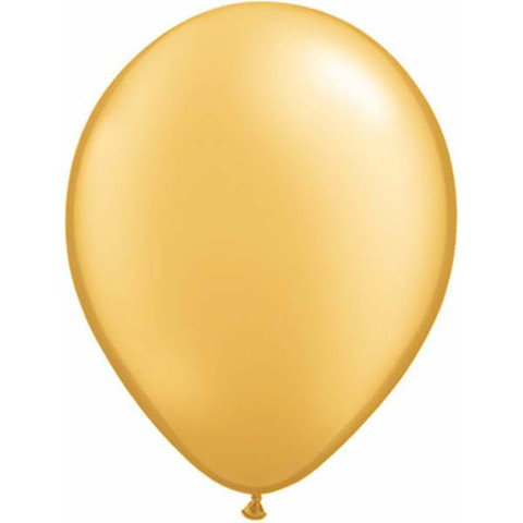 BALLOONS LATEX - GOLD PEARLISED/METALLIC PROFESSIONAL PACK 25