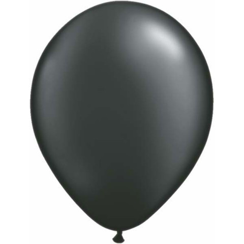 BALLOONS LATEX - BLACK PEARLISED/METALLIC PRO PACK OF 15