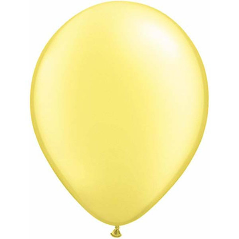 BALLOONS LATEX - PASTEL LEMON PEARLISED/METALLIC PRO PACK 25