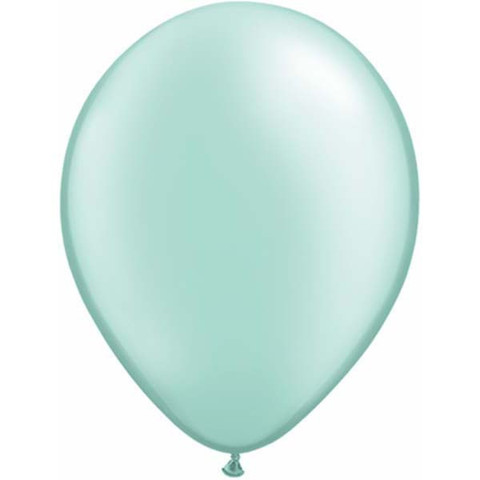 BALLOONS LATEX - PASTEL MINT PEARLISED/METALLIC PRO PACK 25