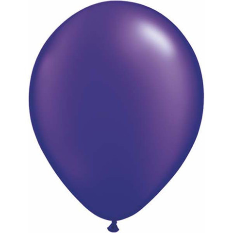 BALLOONS LATEX - PURPLE PEARLISED/METALLIC PRO PACK OF 15