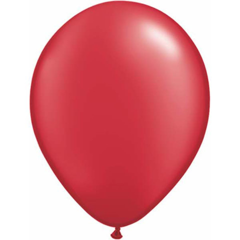 BALLOONS LATEX - RUBY RED PEARLISED PROFESSIONAL PACK OF 25