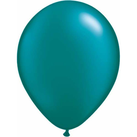 BALLOONS LATEX - TEAL PEARLISED/METALLIC PROFESSIONAL PACK 25