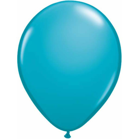 BALLOONS LATEX - TROPICAL TEAL FASHION TONE PACK OF 25