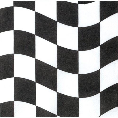 CHECKERED FLAG LUNCH NAPKINS - PACK OF 16