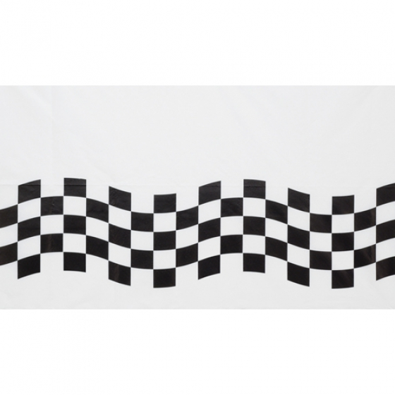 CHECKERED FLAG PAPER TABLE CLOTH