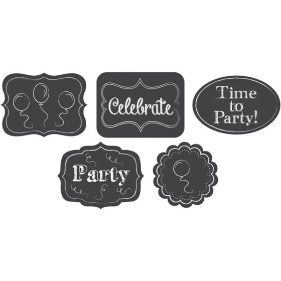 SELFIE PHOTO BOOTH PROPS - CHALKBOARD ASSORTED CUT OUTS