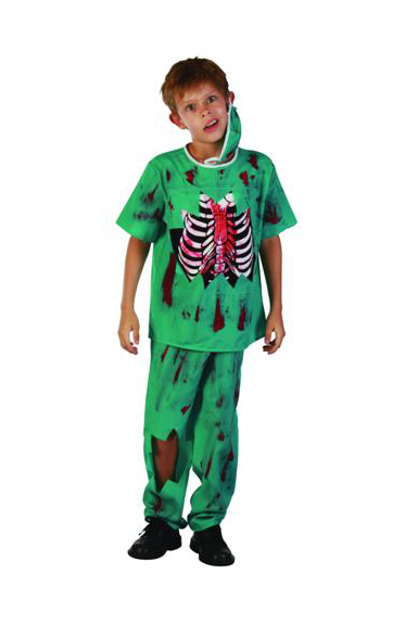 CHILD\'S UNISEX ZOMBIE DOCTOR COSTUME