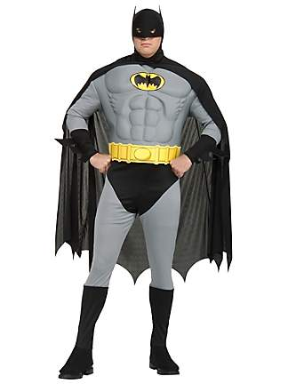 BATMAN SUPER HERO DELUXE COSTUME - ONE SIZE