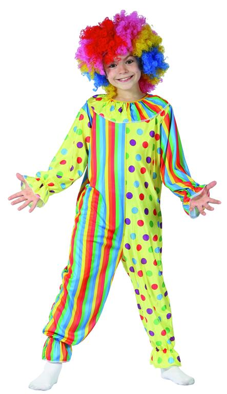 CLOWN JUMPSUIT COSTUME - UNISEX MEDIUM 6-8