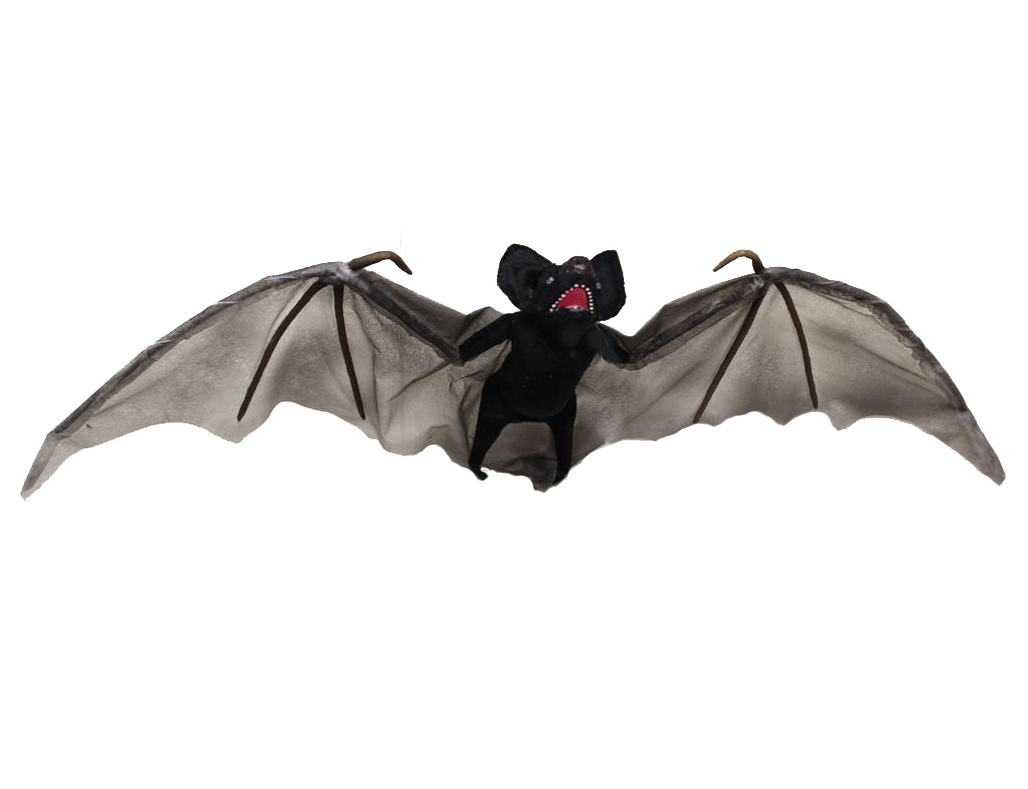 GIANT LIGHT UP L.E.D FLYING BAT WITH POSABLE WINGS