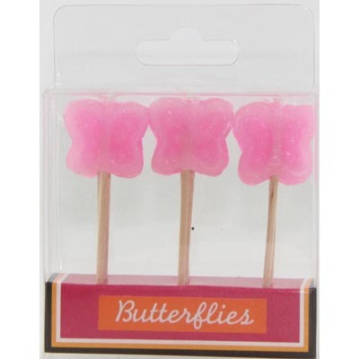 BUTTERFLY PICK CANDLES - PK 9