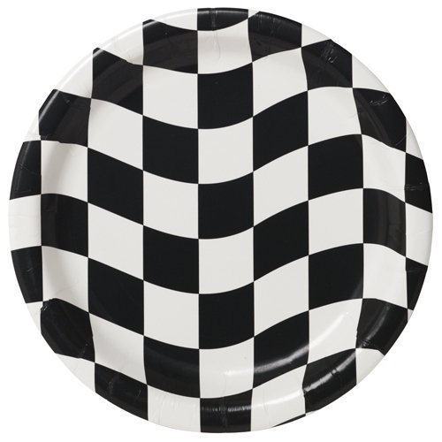 CHECKERED FLAG LUNCH PLATES - PACK OF 8
