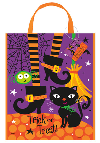 HALLOWEEN TRICK OR TREAT BAG WITH SPOOKY BOOTS
