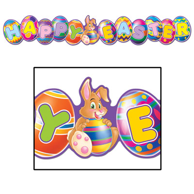 HAPPY EASTER HARVEY RABBIT BANNER