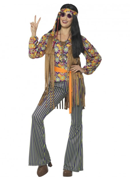 1960'S GROOVY SINGER FANCY DRESS COSTUME - LARGE