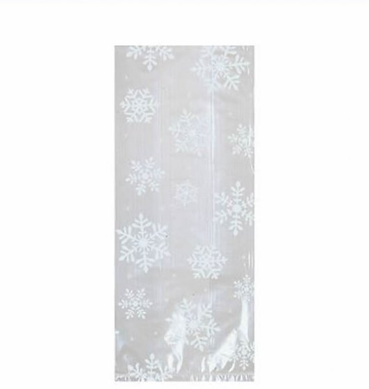 SNOWFLAKE TREAT BAGS PACK OF 20