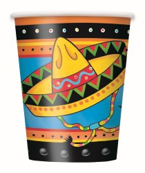 FIESTIVITY MEXICAN FIESTA PAPER CUPS PACK OF 8