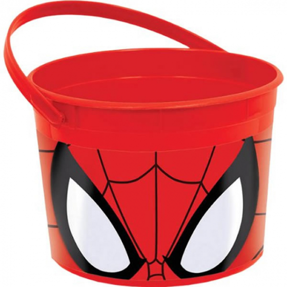SPIDERMAN PARTY FAVOUR CONTAINER WITH HANDLE