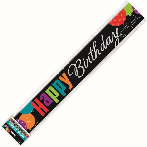 FOIL BANNER HAPPY BIRTHDAY