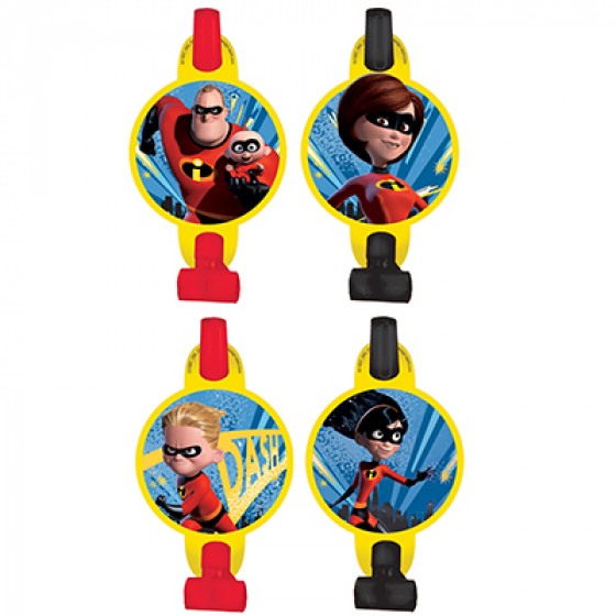 DISNEY INCREDIBLES PARTY BLOWOUTS PACK OF 8
