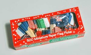 ASSORTED COUNTRY FLAG PICKS - PK 500