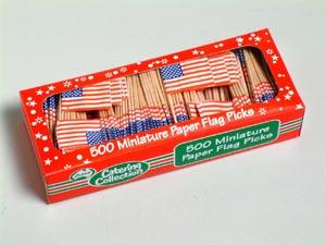 Image of American Flag Picks Box Of 500