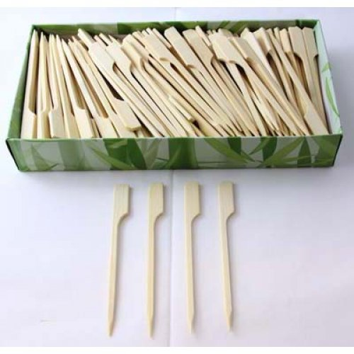 NATURAL ECO BAMBOO PADDLE SKEWERS 9CM - BULK BOX OF 250