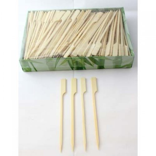 NATURAL ECO BAMBOO PADDLE SKEWERS 12CM - BULK BOX OF 250