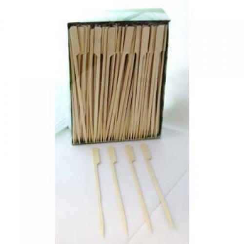 NATURAL ECO BAMBOO PADDLE SKEWERS 18CM - BULK BOX OF 250