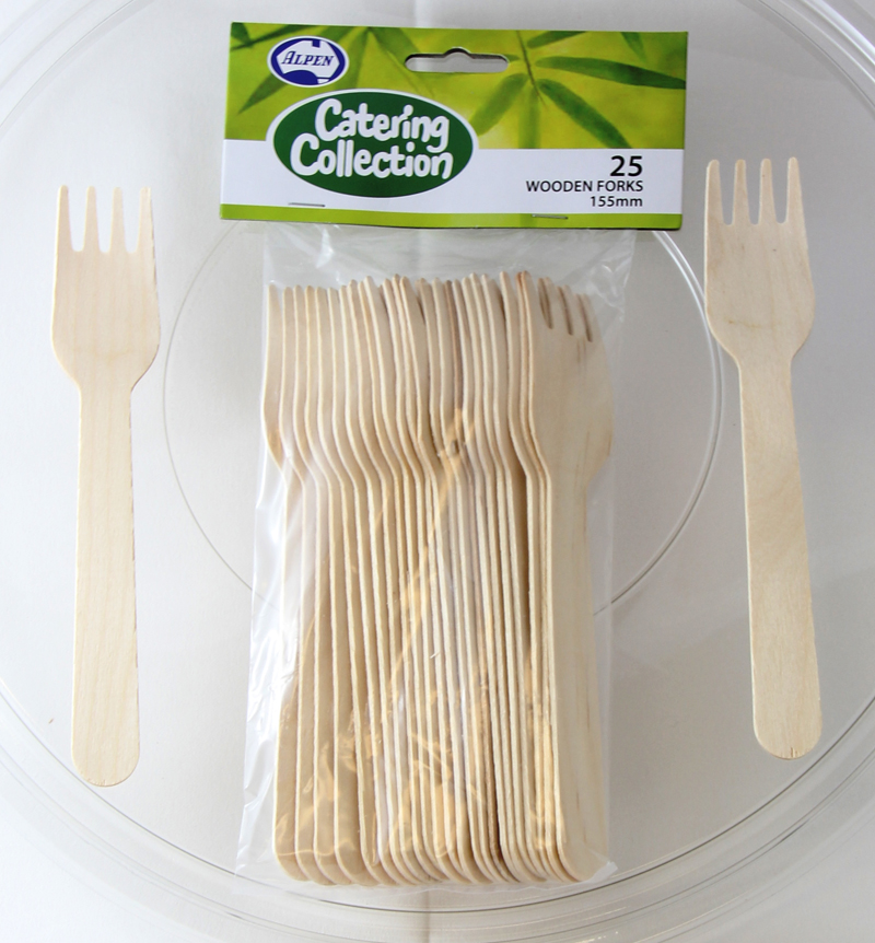 NATURAL ECO PINE FORKS - PACK OF 25