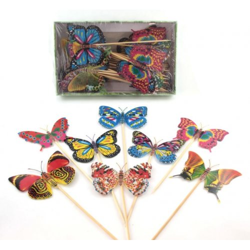 BUTTERFLY FOOD PICKS - BOX OF 50