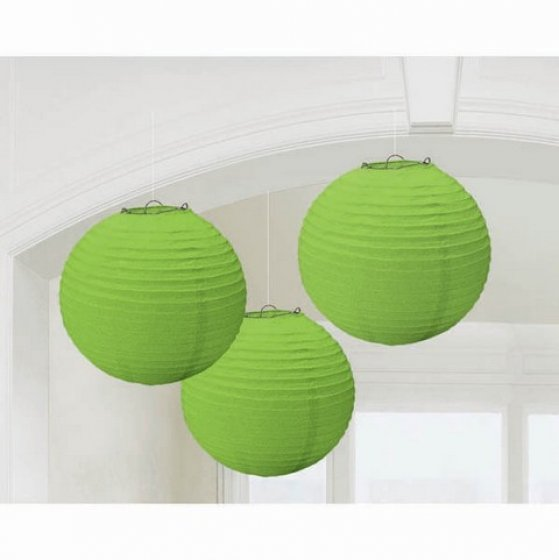 CHINESE PAPER LANTERN 24CM - KIWI GREEN - SET OF 3