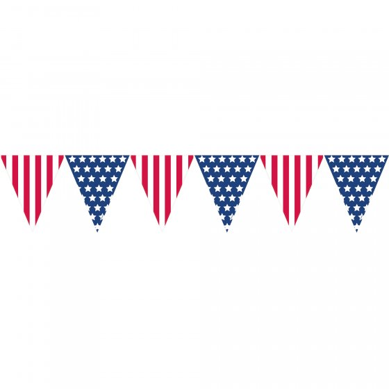 AMERICAN PATRIOTIC STARS & STRIPES PENNANT BANNER