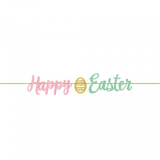 HAPPY EASTER BANNER GLITTER STREAMER BANNER