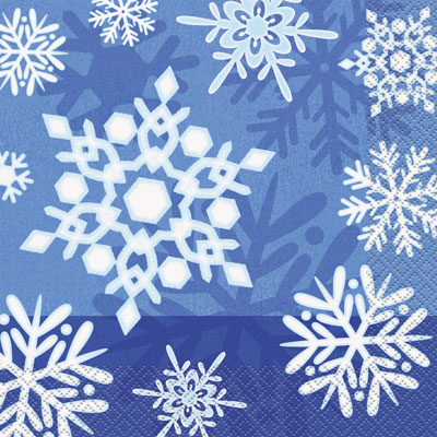 WINTER SNOWFLAKE LUNCH NAPKINS PACK OF 16
