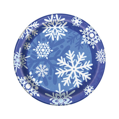 WINTER SNOWFLAKE LUNCH PLATES PACK OF 8