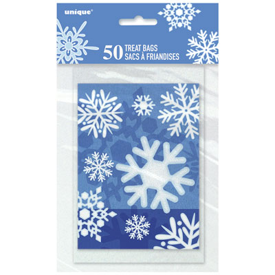 WINTER SNOWFLAKE LOOT BAGS PACK OF 50