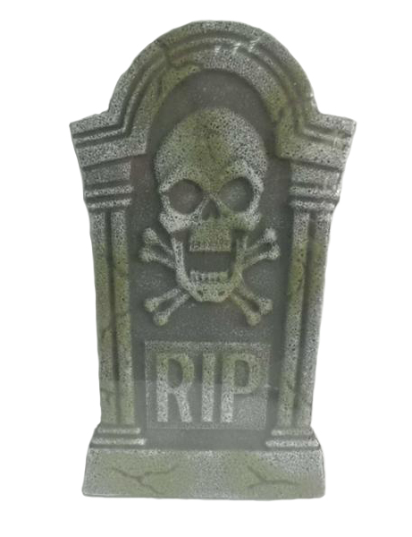HALLOWEEN TOMBSTONE SKULL & CROSS BONE - sold out