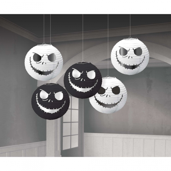 NIGHTMARE BEFORE CHRISTMAS MINI LANTERNS - PACK OF 5