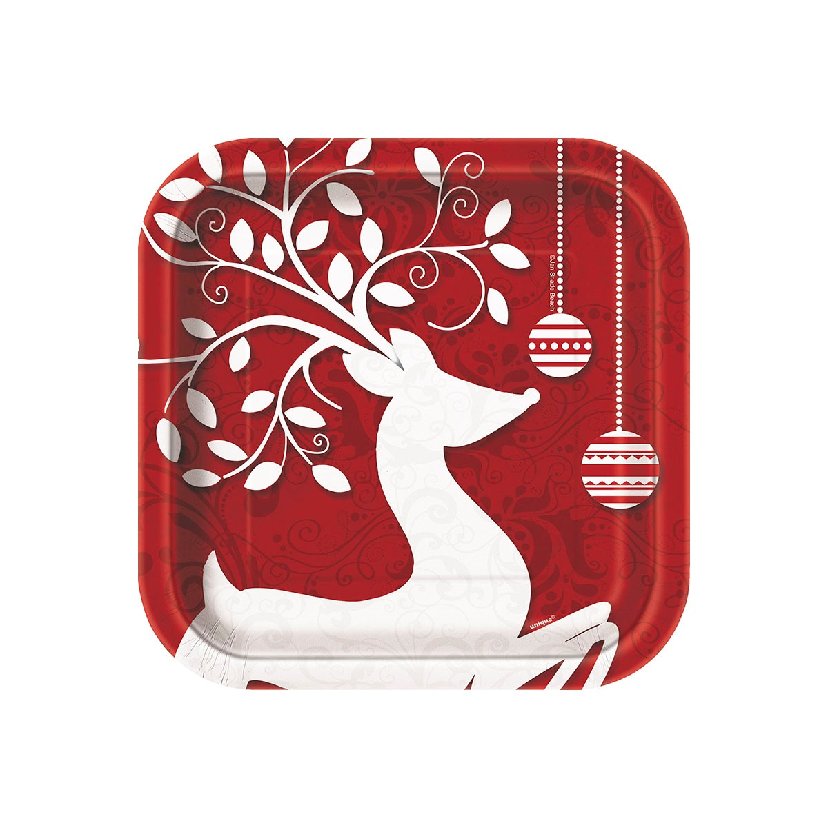 FROSTED CHRISTMAS LUNCH PLATES - PACK OF 10