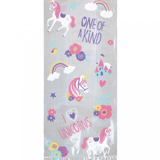 MAGICAL UNICORN CELLO LOOT BAGS - PACK OF 20