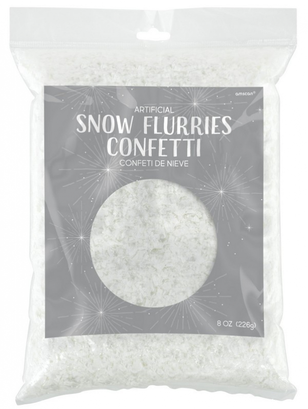 ARTIFICIAL SNOW FLURRIES/FLAKES CONFETTI